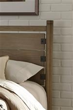 Headboard post and metal accents
