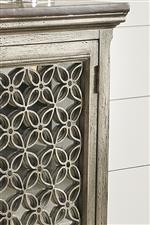 Cabinet top and door detail
