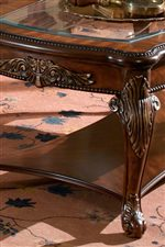 Acanthus Leaf Embellishment, Cabriole Legs and Glass Top Inserts on Occasional Tables
