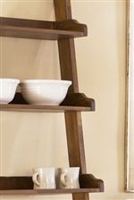 Shaped Shelves on Leaning Bookcase