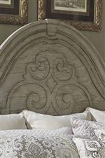 Decorative Scroll Motif On Headboard