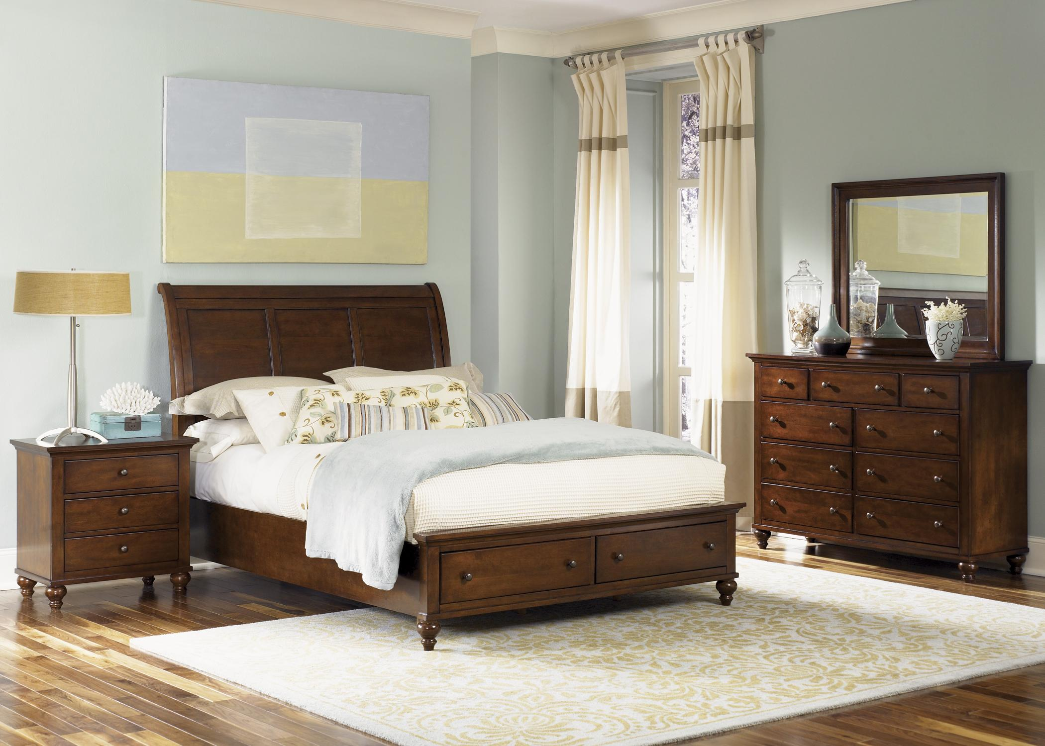 Liberty Furniture Hamilton Transitional Queen Sleigh Bed Wayside
