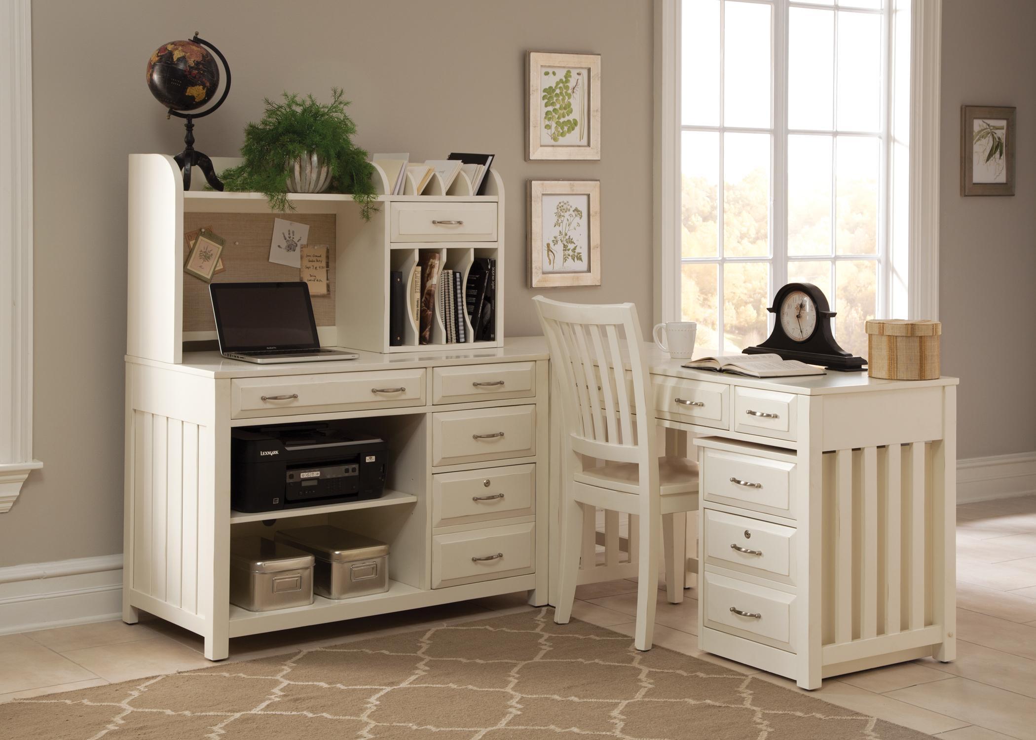Superbe Liberty Furniture Hampton Bay   White Home Office Desk With Hutch | Wayside  Furniture | Desk U0026 Hutch Sets
