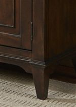 Tapered Block Legs and Wood Framed Door Panels