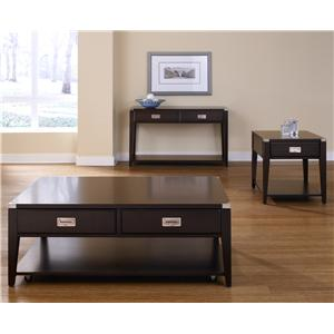 Liberty Furniture Harbor Town  Two Drawer Rectangular Cocktail Table