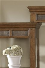 Wooden Peg and Natural Slate Inlay Accents Throughout Collection
