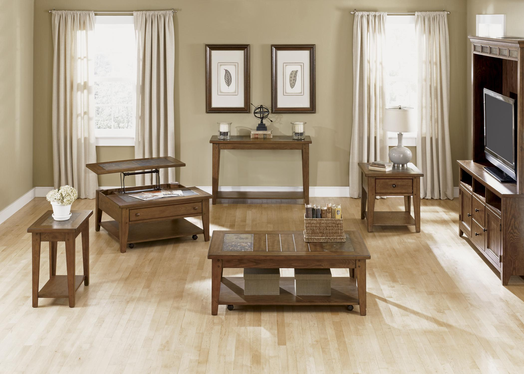 Liberty Furniture Hearthstone Occasional Set With Cocktail Table And Two  End Tables   Wayside Furniture   Occasional Group
