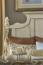Detailed Headboard with Turned Posts