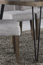 Metal Tube Legs and Upholstered Seat