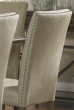 Upholstered Linen Seat
