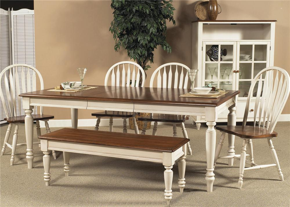 Country Dining Sets liberty furniture low country rectangular dining table with turned