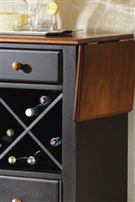 Wine Rack in Server with Extended Board