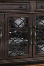 Buffet glass doors