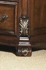 Applied Acanthus Leaf Carving and Decorative Foot