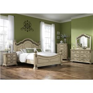 Liberty Furniture Messina Estates II Traditional 7 Drawer Dresser and Mirror Combo