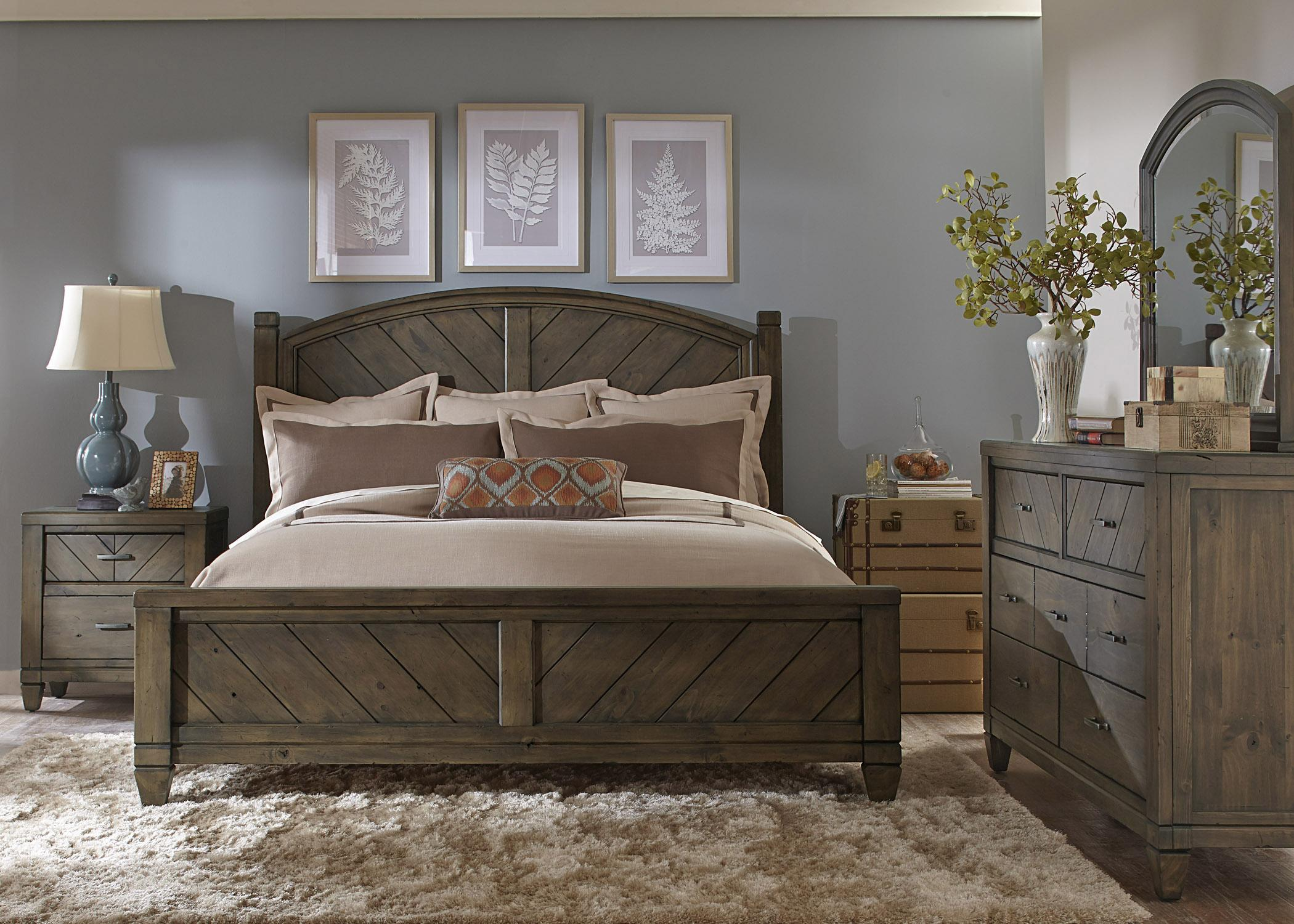 Liberty Furniture Modern Country King Bedroom Group - Item Number: 833 K Bedroom Group 2