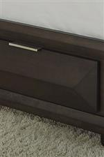The footboard drawers provide extra storage room