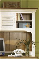 Storage Shelves & Doors on Student Desk Hutch.
