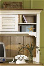 Storage Shelves & Doors on Student Desk Hutch.