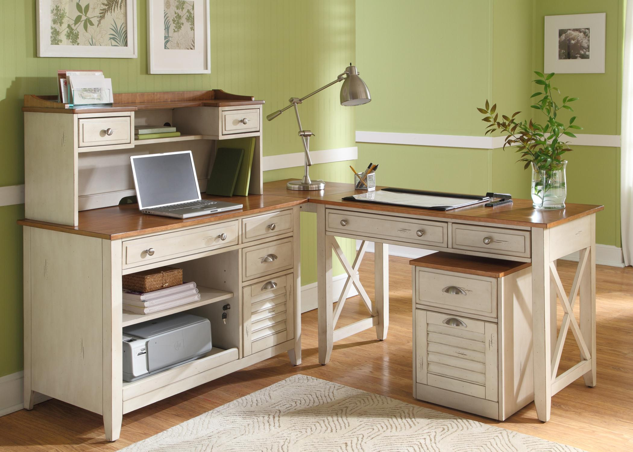 Liberty Furniture Ocean Isle Complete Desk | Wayside Furniture | L Shape  Desks