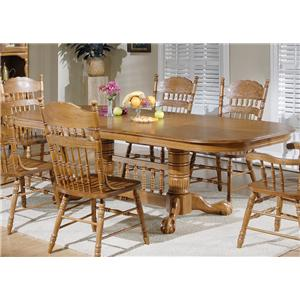 Liberty Furniture Old World Casual Dining Double Pedestal Table