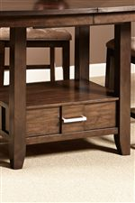 Gathering Table Features a Storage Base for Added Convenience