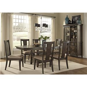 Liberty Furniture Patterson Rectangle Dining Table with Storage Pedestal