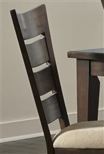 Thick, Plank Style Ladder Backs and Nubby Linen Upholstery