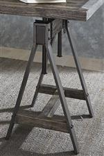 Saw Horse Style Adjustable Height Pedestals