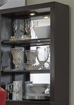 Bunching Curio Cabinets with Mirrored Back