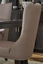 Nailhead Trim Accents on Fabric Upholstered Side Chairs