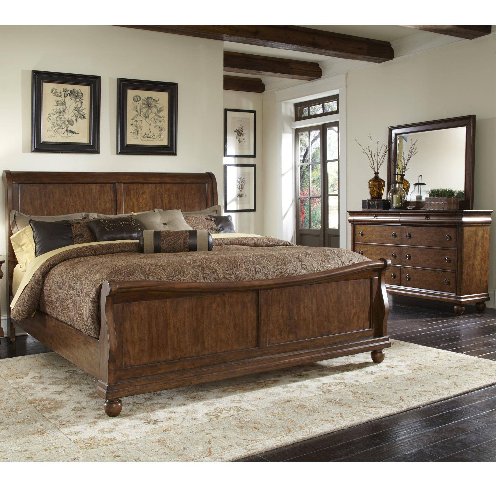 Liberty Furniture Rustic Traditions Queen Bedroom Group 1 - Hudsonu0026#39;s Furniture - Bedroom Groups