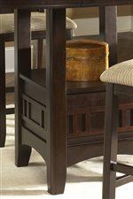 Carved Single Pedestal Table Base