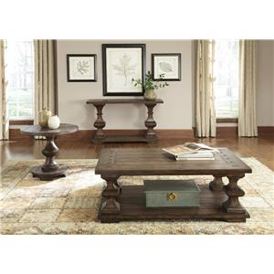 Liberty Furniture Sedona Traditional Sofa Table with Bottom Shelf