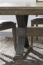 Trestle table base and leg