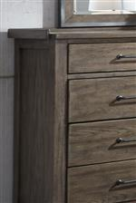 Dresser corner and storage