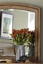 Simple Framed Mirror with Rounded Top Edge