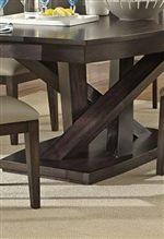 Unique Crisscross Pedestal Table Base