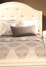 Crystal Button Tufted Upholstered Headboard