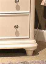 Turned Bun Feet and Bead Moulding Framed Drawers
