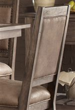 Faux Leather Upholstered Chair Seats and Backs