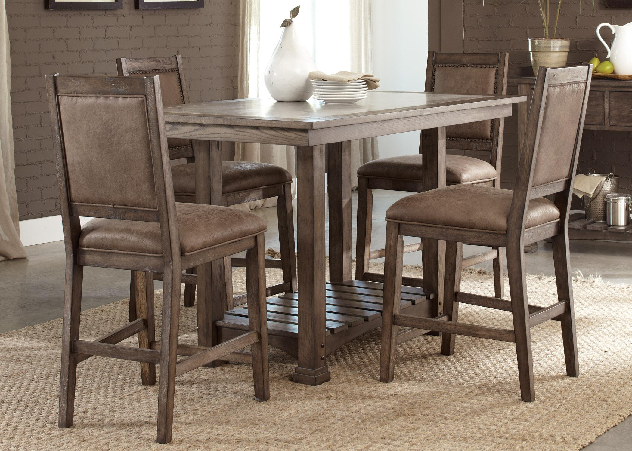 Liberty furniture stone brook casual dining room group for Casual dining room