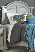 Panel Bed Headboard with Arched Crown Molding