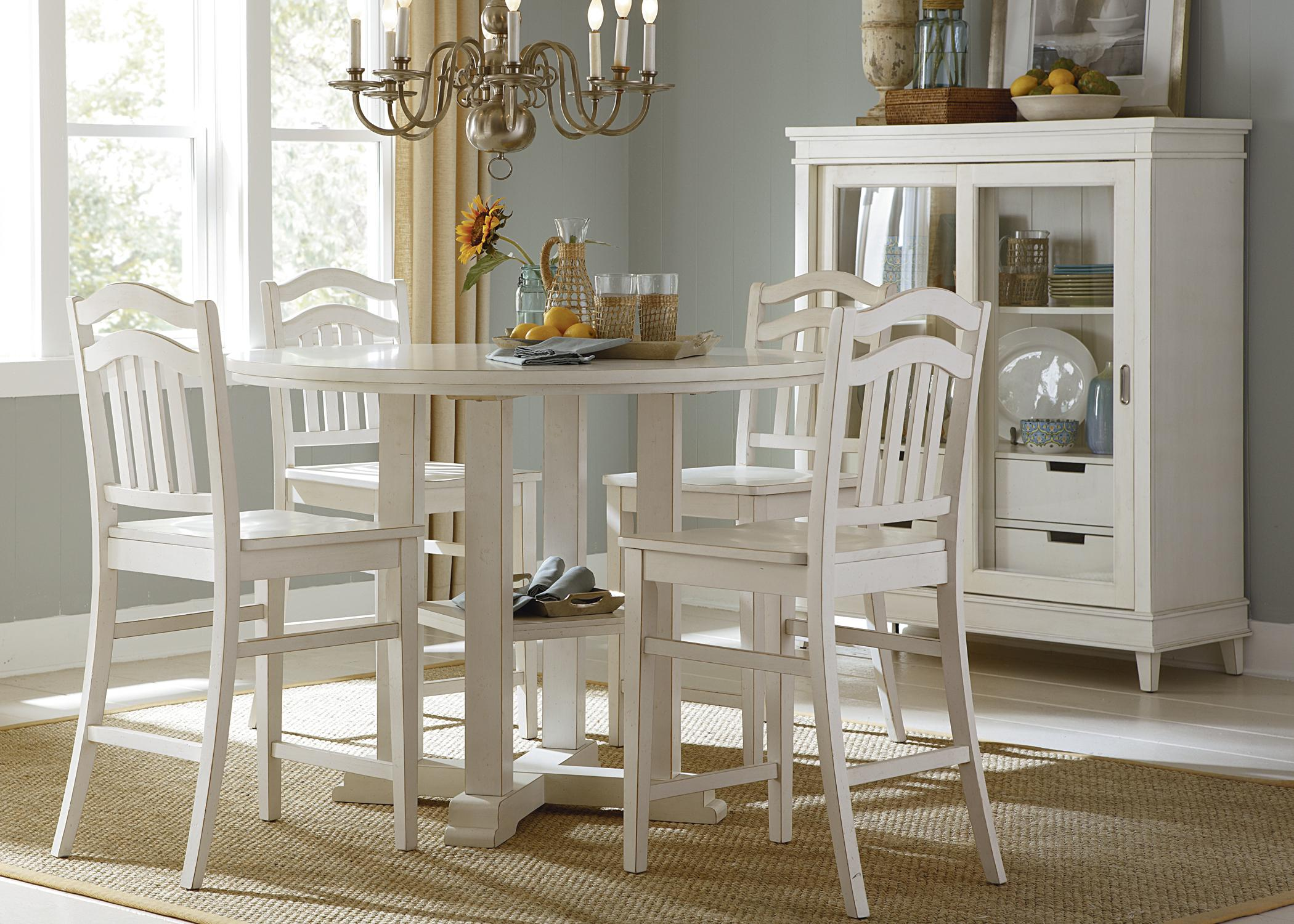 White and black dining room table - Liberty Furniture Summerhill Six Piece Rectangular Table Bench And Chair Dining Set Wayside Furniture Table Chair Set With Bench