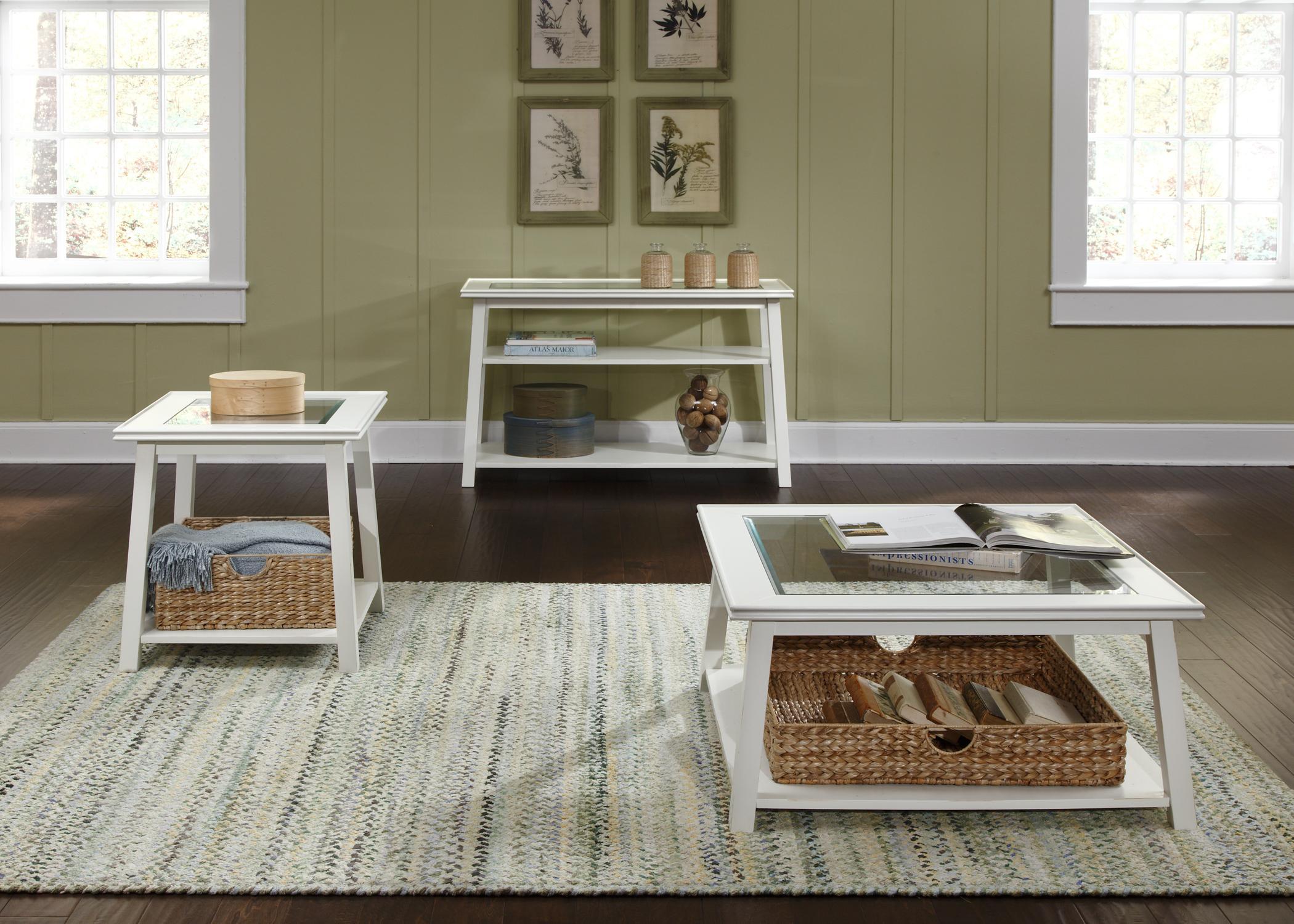 Liberty Furniture Summerhill Six Piece Rectangular Table Bench