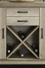 X shaped wine storage shelf