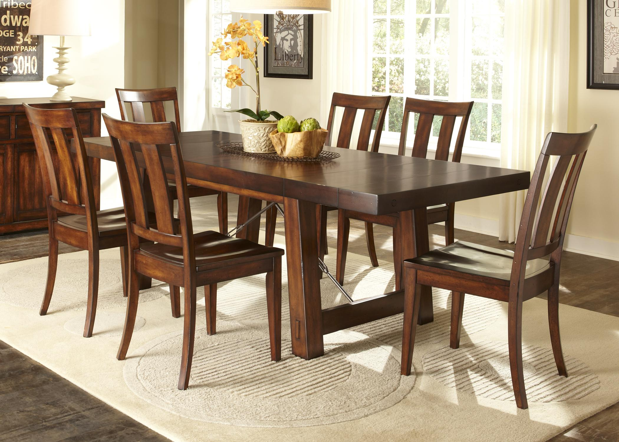 Tahoe Trestle Table with Iron Support Stretcher and Turnbuckle ...