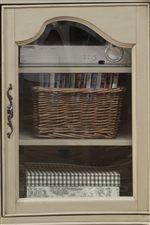Wood Glass Doors with Adjustable Shelves