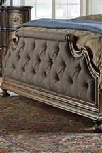 Upholstered Tufted Footboard