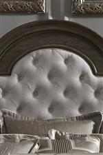 Linen Chenille button tufted headboard